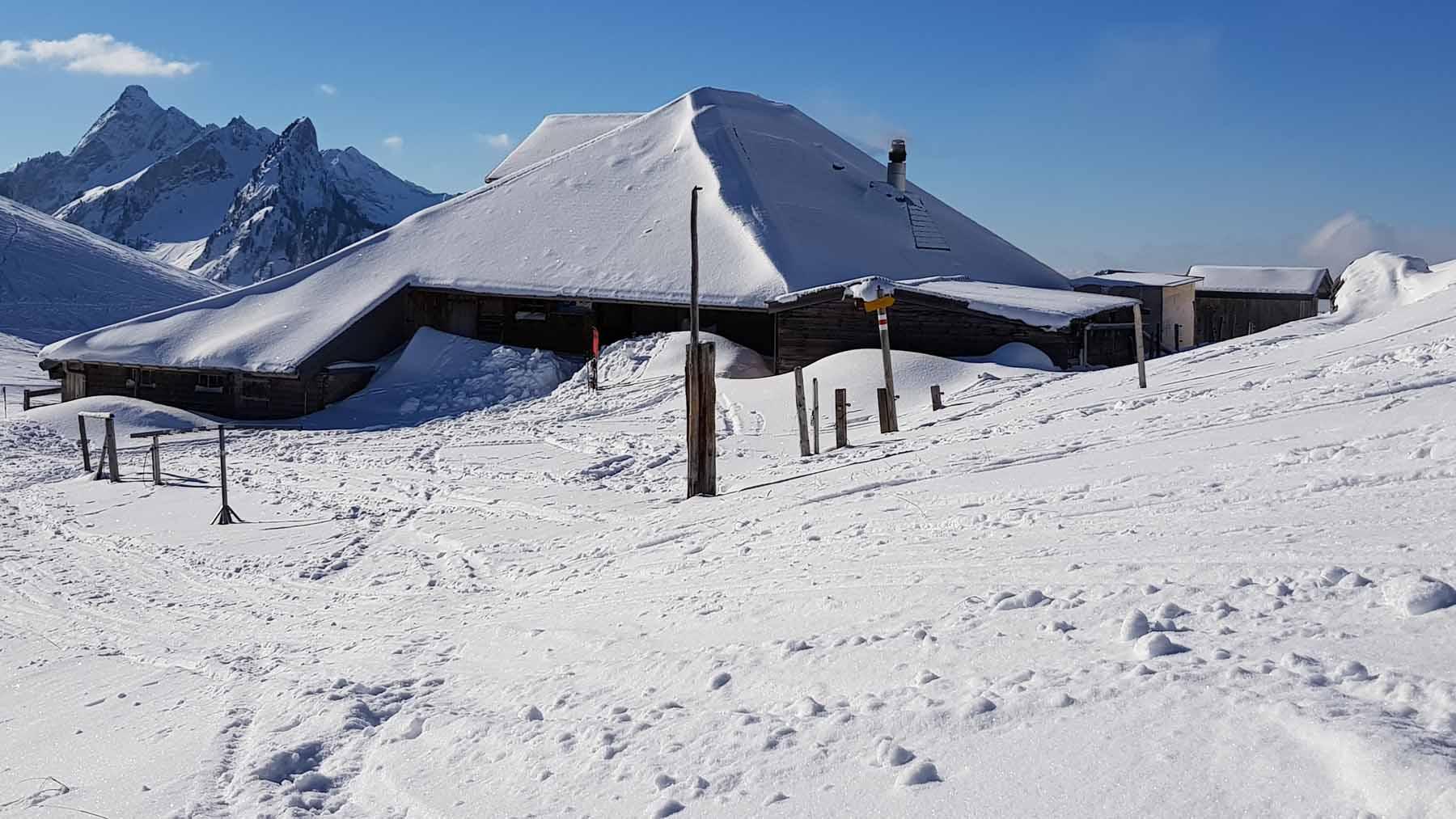 Klubhütte Salzmatt vom 08.01.2021