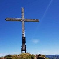 Kreuz aufstellen auf der Fochsenflue vom 12. Juni 1993